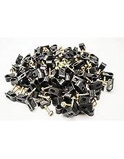 1000 Pieces Black Single Screw Flex Clips for RG59 RG6 CO AX SAT CABLE