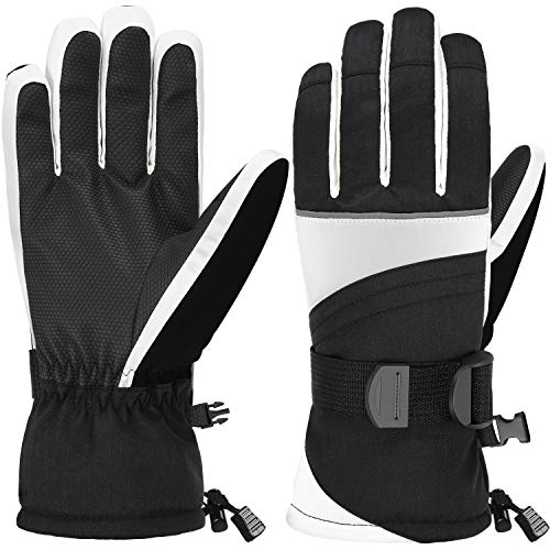 Andake Ski Gloves, Waterproof 3M Thinsulate TPU Membrane Women's Winter Gloves with Non-Slip PU Palms for Skiing, Snowboarding, Riding, Climbing and Skating