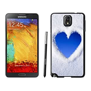 NEW DIY Unique Designed Samsung Galaxy Note 3 Phone Case For Blue Love Heart Of Snow Phone Case Cover