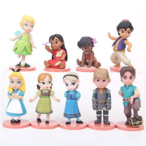 9pcs/Set 5-9cm (2.0-3.5 inch) Princess Figure / Mini Figure / Cute Figure -