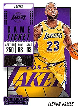 6993c8353 2018-19 Panini Contenders Game Ticket Fat Pack Exclusive Green Basketball   30 LeBron James