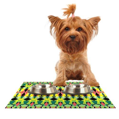 Kess InHouse Akwaflorell T-Vision  Feeding Mat for Pet Bowl, 24 by 15-Inch