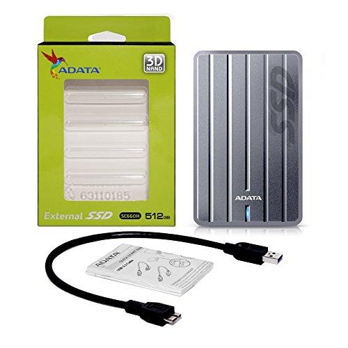 ADATA ASC660H-512GU3-CTI SC660H 512GB Ultra-Slim USB 3.1 External Solid State Drive by ADATA (Image #5)