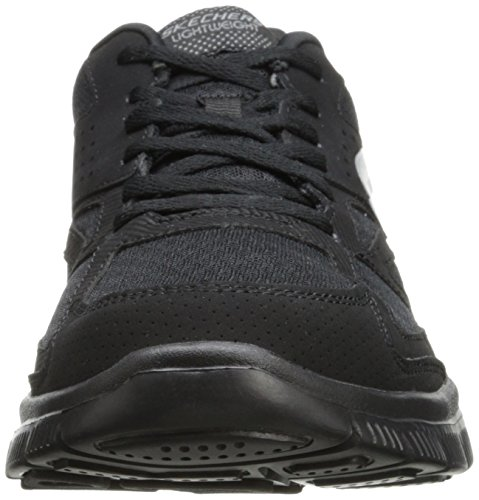 Skechers Flex Advantage Master Plan - Zapatillas, Hombre Negro (Bbk)