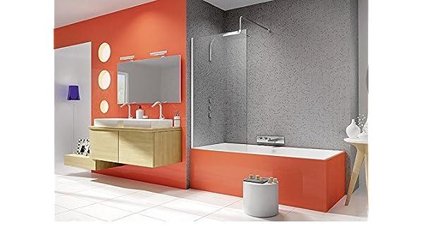 Kinedo - Pare-baignoire fixe transparent 80 cm Ibiza: Amazon.es: Bricolaje y herramientas