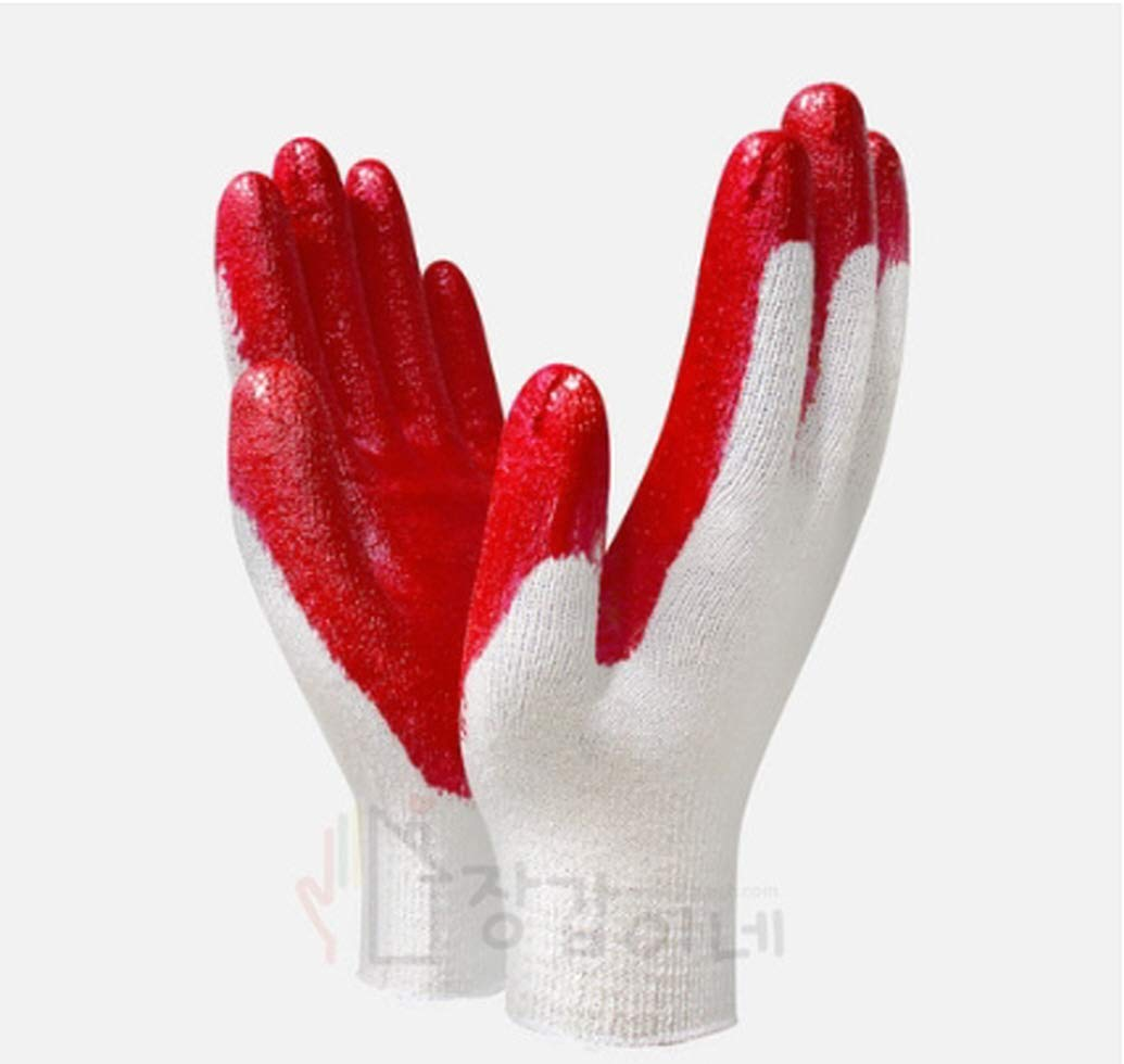 Natural latex 13G semi-coated gloves/maintenance/civil engineering/construction/packaging/gardening gloves for Women (Pack of 100 Pair)