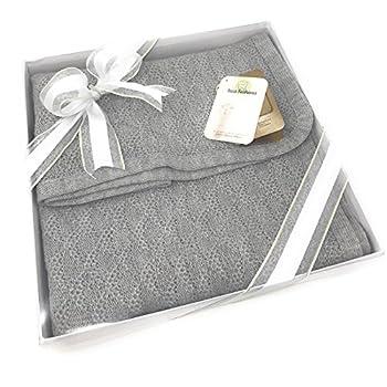 Image of Baby Baby Blanket & Lap Throw,100% Baby Alpaca Wool, Unisex, Hypoallergenic, Dye Free, Pure & Natural (Dove Grey)