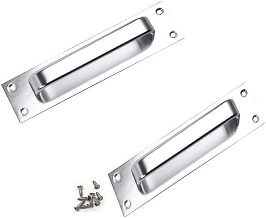 2pieza aleación de aluminio tirador para puerta corredera de puerta para inodoro puerta pull: Amazon.es: Bricolaje y herramientas