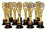 Fun Express 12 Movie Buff Gold Statues for Hollywood Movie Awards Parties Decoration