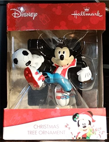 Disney Hallmark Mickey Mouse Soccer Christmas Tree Ornament