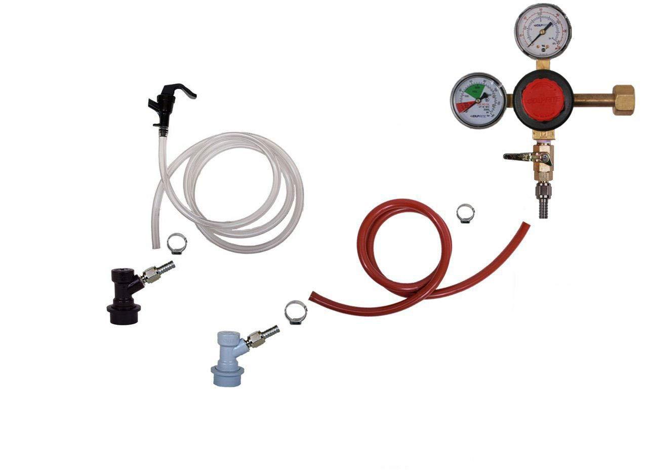 Homebrew Kegerator Kit Ball Lock, Single Tap, Premium Taprite Regulator by Kegconnection