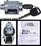 APDTY 035813 Ignition Lock Cylinder Assembly Includes New Keys And Passlock Chip (Fixes Security Light; User-Programmable; Dash-Mounted; Replaces D1493F, 25832354, 15822350, US286l)