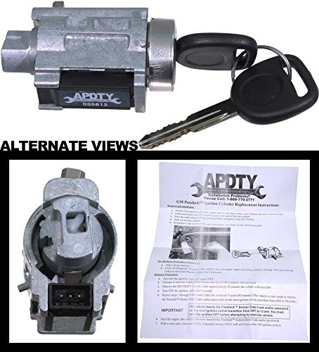 APDTY 035813 Ignition Lock Cylinder w/New Keys And Passlock Chip (Fixes Security Light) (D1493F; 25832354; 15822350; US286l) - Switch Cylinder Key