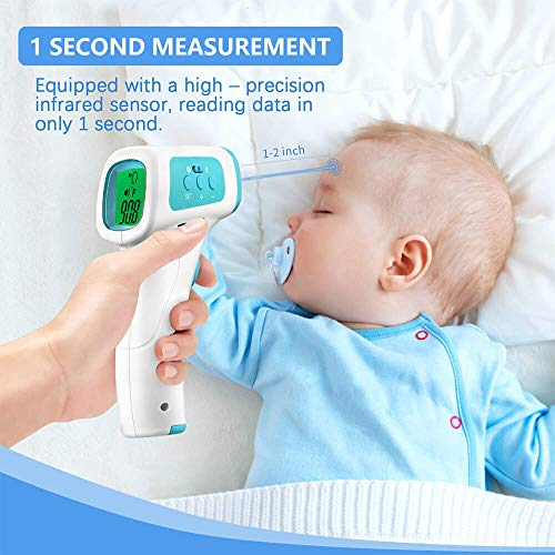 Infrared Forehead Thermometer, Medical Grade Non-Contact Thermometers for Adults and Baby with FDA Certification