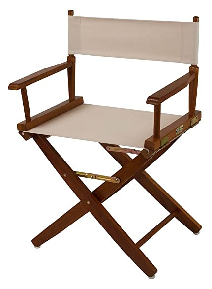 Extra Wide Mission Oak Frame Directors Chair
