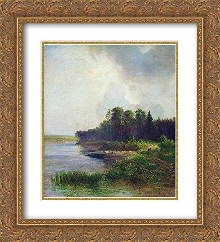 Aleksey Savrasov 2x Matted 20x22 Gold Ornate Framed Art Print - Riverside Galleria