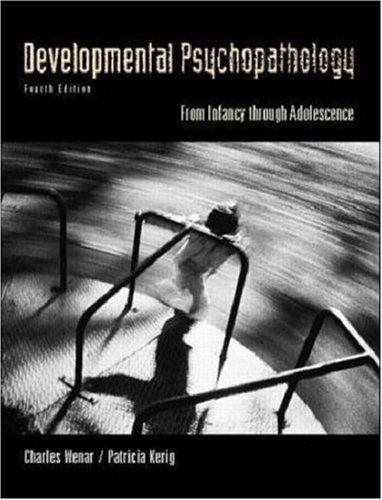 Developmental Psychopathology (McGraw-Hill International Editions: Psychology Series)