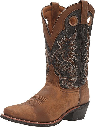 Cowboy Laredo Boots Black 12 - Laredo Mens Black Stillwater Leather Cowboy Boots 12in Tan 10.5 D