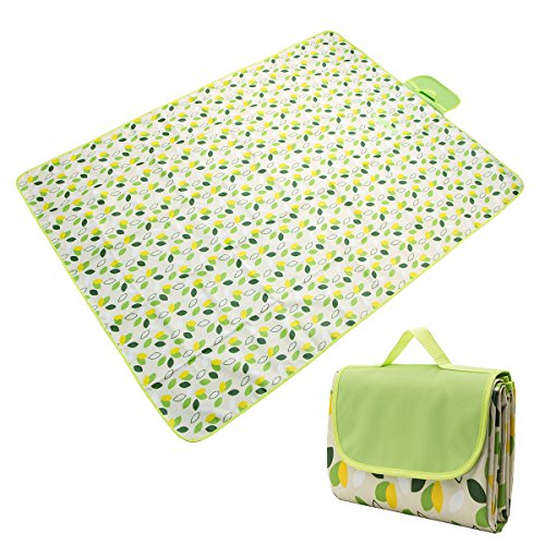 ameriguy Extra Large Picnic Outdoor Beach Blanket - 80x60 Inches, Dual Layers For Outdoor Water-Resistant Handy Mat Tote, Great for the Beach, Camping on Grass Waterproof Sandproof. by ameriguy