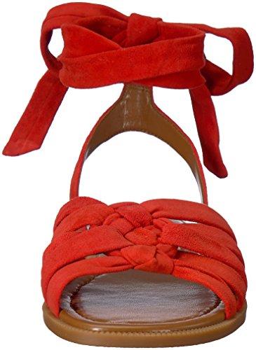 Sandalo Camoscio Xameera Delle Donne Piatto Rosso Camoscio Ovest Nove 5q66wBd