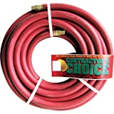 Industrial Red Rubber Hose - 3/4in. x 50ft., 3/4in. NPT Fittings, 300 PSI, Model# RR3/4X25-300-12MP