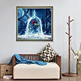 Standie 5D DIY Diamond Painting Cross Half-Drill Kit Rose Rhinestone Embroidery Painting Kit Cross Stitch DIY Painting5D Decorating Painting Ornaments Canvas Wall Decor for Living Room (30 × 30 CM)
