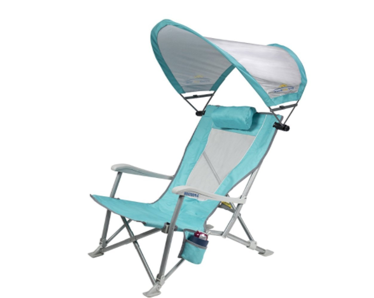 Foldable Bistro Chairs, Light Blue Color, Fade-Resistant Fiber, Aluminum Material, Storage Bag Included, Folds Up For Easy Transportation And Storage, Ideal For Outdoor Spaces & E-Book by Foldable
