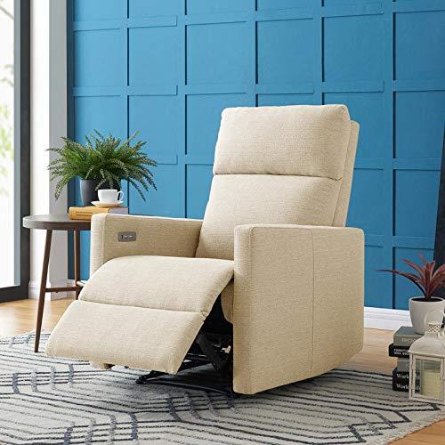 Wall Hugger - Domesis Ali Power Wall Hugger Reclining Chair with USB Port (Oatmeal Linen)