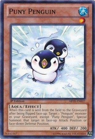 Yu-Gi-Oh! - Puny Penguin (ABYR-EN037) - Abyss Rising - 1st Edition - (En037 Common Card)