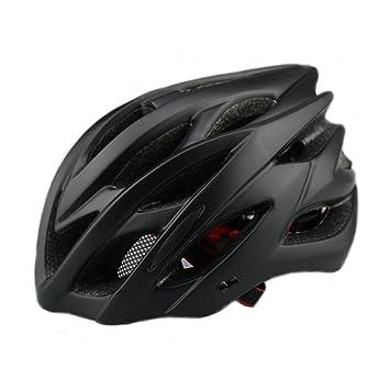 6 x colores - Scott ciclo casco con luz de seguridad, adultos hombres y mujeres
