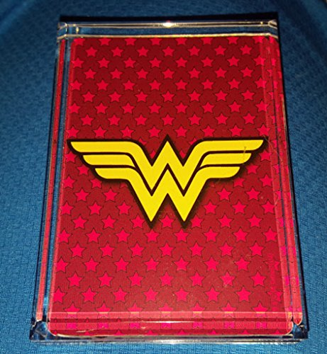 Wonder Woman Emblem Logo Acrylic Paperweight or Display Piece