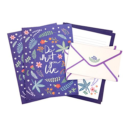 Floral Stationery (Floral Stationery Sets for Writing Letters, 32 Sheets Lined Paper with 16 Envelopes By Dahey)