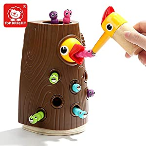 TOP BRIGHT Magnetic Toddler Toy, Catching and Feeding Game, Fine Motor Skill Preschool Toys for Girls Boys 2 3 4 Years Old