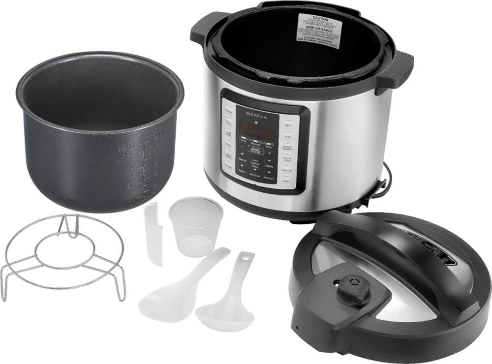 Insignia- 6-Quart Multi-Function Pressure Cooker - Stainless Steel by Insignia (Image #3)