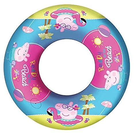 Diakakis 0482228 - Flotador hinchable bajo licencia - Peppa Pig, 51 cm: Amazon.es: Juguetes y juegos