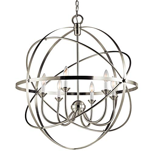 Miseno SBU155241NI 6-Light 28 Wide Candle Style Cage Chandelier
