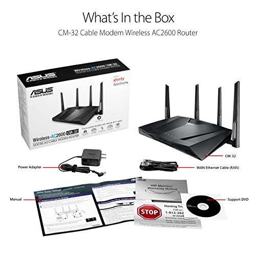 Asus Modem Router Combo - All-in-one DOCSIS 3 0 32x8 Cable