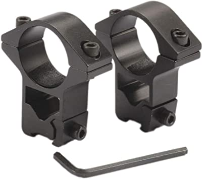 Amazon Com Thorn 1 Inch High Profile See Thru Scope Rings For 11mm Dovetail Rail Matt Black Sports Outdoors
