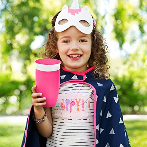 51ORmnmXemL - Munchkin Miracle 360 Sippy Cup, Pink/Purple, 10 Oz, 2 Count