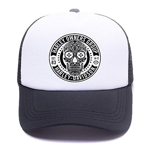 Harley D Black Baseball Caps Gorras de béisbol Trucker Hat Mesh Cap For Men Women Boy Girl 010 Black