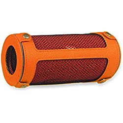 Fintie Protective Case for JBL Flip 3 - Premium PU Leather Carrying Sleeve Protective Cover with Carabiner For JBL Flip3 Splashproof Portable Bluetooth Speaker, Orange