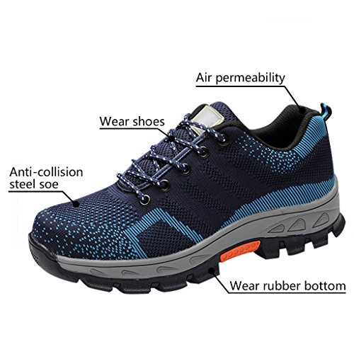 Optimal Work Shoes Safety Blue Men's Shoes Toe Shoes Steel Comp RxZRr