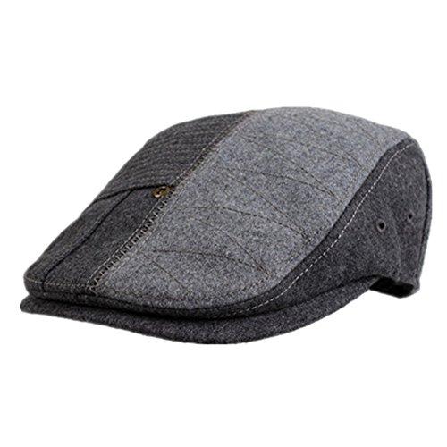 Kenmont Unisexe Homme Printemps Automne automne gris en laine Cabbie Hat gavroche Ivy Cap