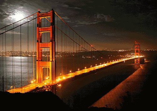 Golden Gate Bridge by Day & Night - Motion 3D Postcard Greeting cards