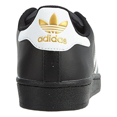 Adidas Superstar Heren Stijl: Cg2708-blk / Wht / Goud Maat: 7 M Ons Zwart / Wit-metallic Goud