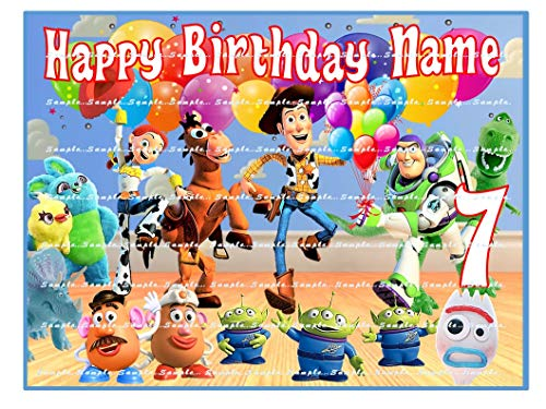 TOY STORY : Personalized edible Birthday Cake topper premium frosting sheets (Toy Story Edible Images)