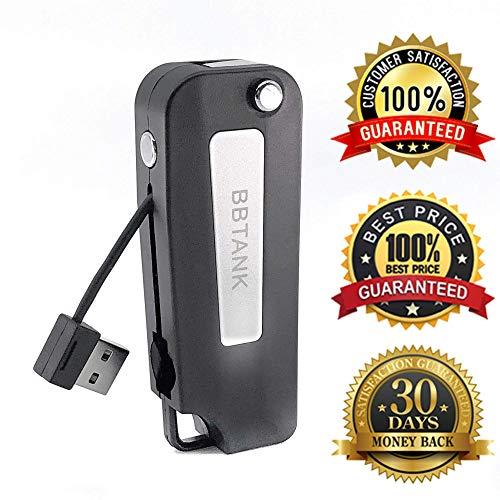 USB Charger B-B T-A-N-K Top Fob Battery Flip Key Fob_510_T_H_R_E_A_D w/Velvet Satchel