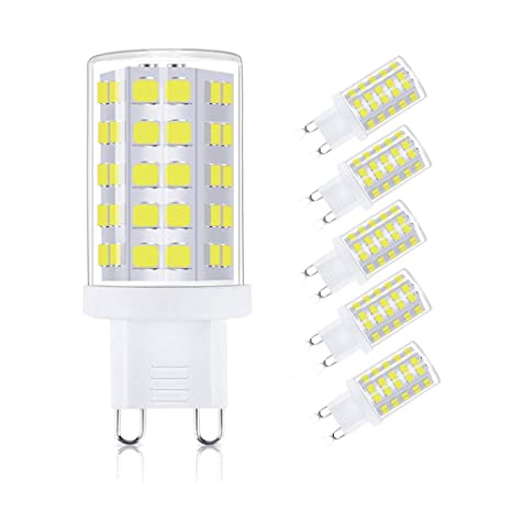 WXY G9 Bombillas LED, 5 W, 63 x 2835 SMD LED, 400 lm, equivalente a 40