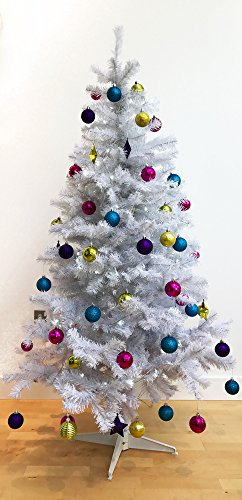 White Christmas Trees - Homegear 6FT Deluxe 700 Tip Artificial White Xmas / Christmas Tree