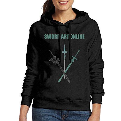 Sword Art Online Women's Hooded Sweatshirt M Black